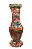 Antieke vaas met pauw royalty-vrije illustratie