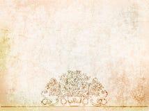 Antieke vazen als achtergrond op de oude muur Illustratie Stock Illustratie