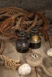 Antieke verrekijkers Stock Foto's