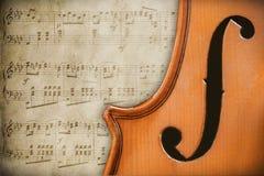 Antieke viool Royalty-vrije Stock Afbeeldingen