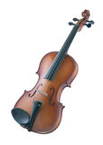 Antieke viool die op wit wordt geïsoleerdo Stock Foto's