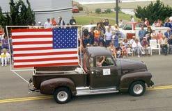 Antieke Vrachtwagen in 4 de Parade van Juli, Cayucos, Californië Royalty-vrije Stock Fotografie