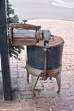 Antieke wasmachine Stock Afbeeldingen