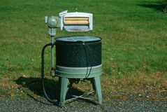 Antieke wasmachine royalty-vrije stock afbeelding