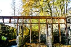 Antieke watertunnel voor oude molen royalty-vrije stock afbeelding