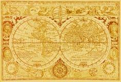 Antieke wereldkaart Stock Afbeelding