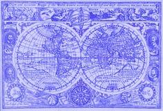 Antieke wereldkaart stock foto's
