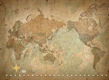 Antieke wereldkaart Royalty-vrije Stock Foto's