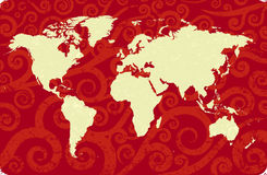 Antieke wereldkaart Royalty-vrije Stock Foto