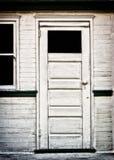 Antieke Witte Deur Stock Afbeelding