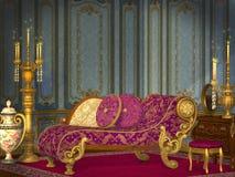 Antieke woonkamer Royalty-vrije Stock Afbeeldingen