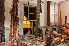 Antieke workshop en hulpmiddelen Stock Foto