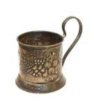 Antieke zilveren glashouder royalty-vrije stock foto's