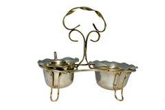 Antieke zilveren jam en roomserver Royalty-vrije Stock Foto