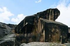 Antient βράχοι πάρκων Qobustan εθνικοί Στοκ φωτογραφίες με δικαίωμα ελεύθερης χρήσης