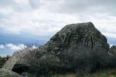 Antient βράχοι πάρκων Qobustan εθνικοί Στοκ Εικόνες