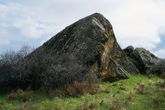 Antient βράχοι πάρκων Qobustan εθνικοί Στοκ Φωτογραφία
