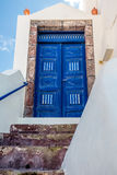 Antient blue door Stock Photo