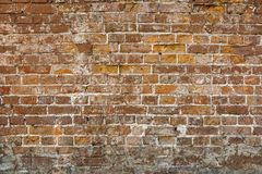 Old cracked brick wall background Royalty Free Stock Image