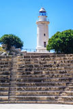 Antient greek amphitheater and lighthouse Stock Photo