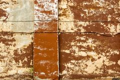 Antient vintage wall background with collapsed plaster Stock Photography