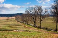 Antietam战场风景在秋天 免版税库存照片