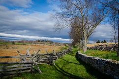 Antietam Battlefield. Open fields and wooded trails where Confederate and Union troops fought in Sharpsburg, Maryland Royalty Free Stock Image
