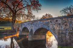 Antietam Burnside Bridge in Autumn royalty free stock photo
