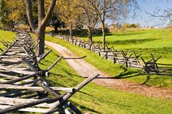 Antietam Civil War Battle Site. The Sunken Road on the Antietam National Battlefield, scene of some of the worst fighting of the entire American Civil War stock photos