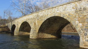 Antietam Creek Bridge in March Stock Photography