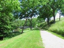 Antietam Creek och Burnsides bro Royaltyfri Foto