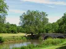 Antietam Creek und Burnsides Brücke Stockbild