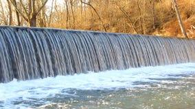 Antietam Creek Waterfall in March stock video footage
