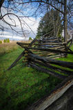 Antietam Log Fence. The fence-line where Confederate and Union troops fought in Sharpsburg, Maryland Stock Photos