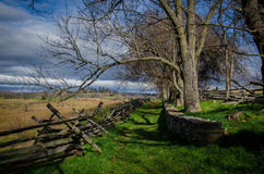 Antietam. Open fields and wooded trails where Confederate and Union troops fought in Sharpsburg, Maryland Stock Photos