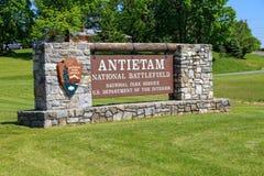 Antietam pola bitwy Krajowy znak Fotografia Stock