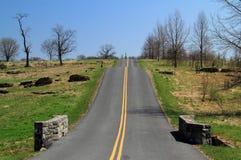 Antietam pola bitwy parka Krajowa droga Zdjęcia Royalty Free