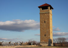 Antietam Tower. Tower was constructed in 1897 without a roof by the War department to study battlefield tactics.  The roof was added sometime around 1909 and the Royalty Free Stock Image