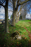 Antietam Walking Trail. The fence-line where Confederate and Union troops fought in Sharpsburg, Maryland Stock Photo