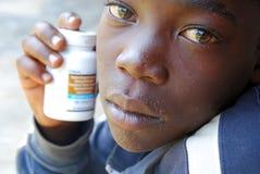 Antietroviraldrugs tegen HIV virus - 247 Stock Afbeelding