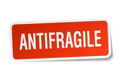 antifragile αυτοκόλλητη ετικέττα διανυσματική απεικόνιση