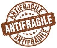 antifragile καφετί γραμματόσημο απεικόνιση αποθεμάτων