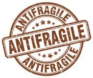 antifragile καφετί γραμματόσημο διανυσματική απεικόνιση