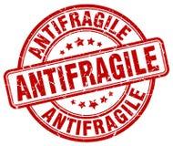 antifragile κόκκινο γραμματόσημο απεικόνιση αποθεμάτων