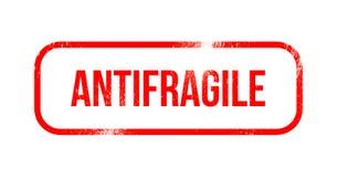 Antifragile - czerwona grunge guma, znaczek Zdjęcia Royalty Free