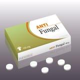 Antifungal Package Pills Royalty Free Stock Photos