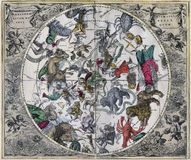 Antigüedad Celestial Hemisphere septentrional de clásico Imagenes de archivo
