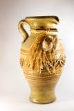 Antigüedad de la jarra de la cerámica Foto de archivo libre de regalías