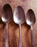 Antigüedad de las cucharas Fotografía de archivo libre de regalías