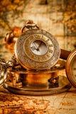 Antigüedad del vintage del reloj de bolsillo del vintage Fotos de archivo libres de regalías